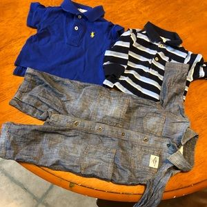 3m Ralph Lauren boys shirts romper lot